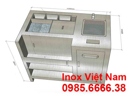 Quầy Bar Pha Chế Inox
